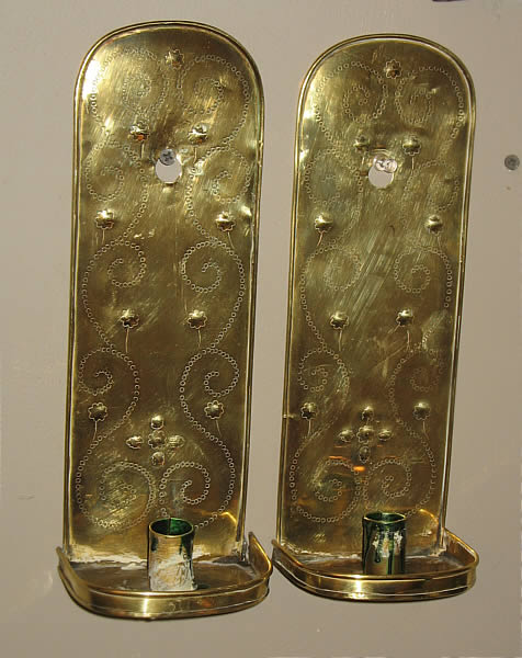 Metalware<br>Archives<br>Pair of Brass Sconces
