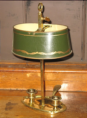 Metalware<br>Archives<br>Brass and Tole French Bouillotte Lamp