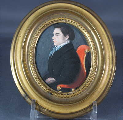 Paintings<br>Archives<br>Portrait Miniature of a Gentleman