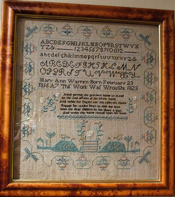 Accessories<br>Accessories Archives<br>SOLD   American Sampler by Mary Ann Warren