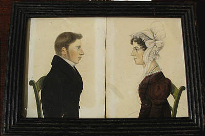 Paintings<br>Archives<br>Pair of American Watercolor Portraits