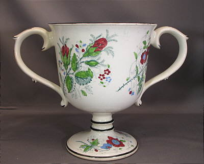 Accessories<br>Archives<br>SOLD   Pearlware Loving Cup with Frog!