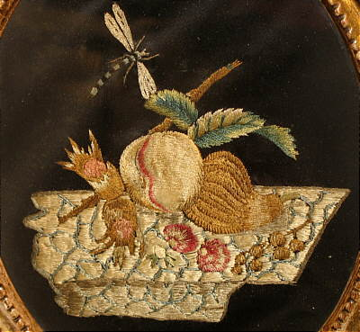 Accessories<br>Accessories Archives<br>SOLD   A Fine Silk on Silk Needlework Still Life