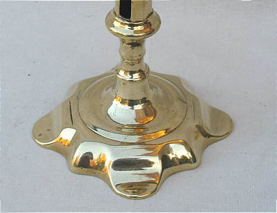 Metalware<br>Archives<br>A Single Queen Anne Petalbase Candlestick