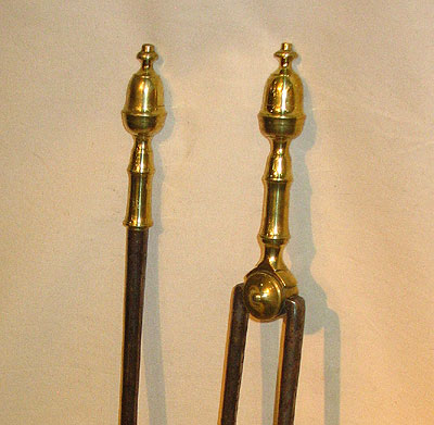 Metalware<br>Archives<br>A Pair of Acorn Topped Fire Tools