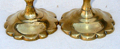 Metalware<br>Archives<br>A Pair of Queen Anne Brass Tapersticks