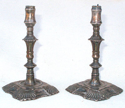 Metalware<br>Archives<br>A Pair of Silver Plated Tapersticks
