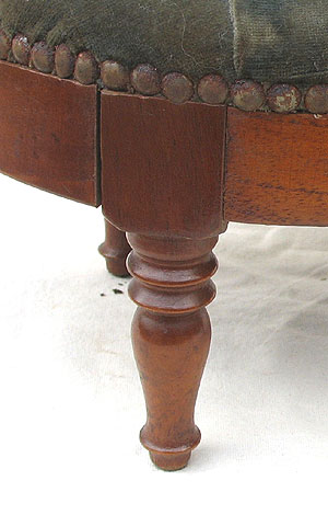 Furniture<br>Furniture Archives<br>SOLD  A Mahogany Tufted Footstool