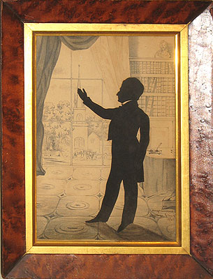 Paintings<br>Archives<br>SOLD  A Silhouette cut by A. Edouart