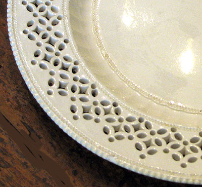Ceramics<br>Ceramics Archives<br>SOLD A Set of Four Creamware Plates