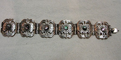 Jewelry<br>SOLD  Sterling and Abalone bracelet by Los Ballesteros