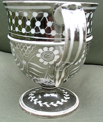Ceramics<br>Ceramics Archives<br>SOLD Lovely Silver Lustre Resist Loving Cup