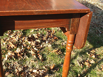 Furniture<br>Furniture Archives<br>SOLD  A Paint Decorated Harvest Table