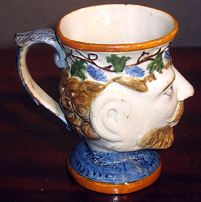 Accessories<br>Archives<br>SOLD   Prattware Satyr Mug, Dated!