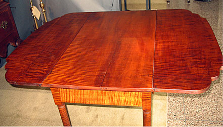 Furniture<br>Furniture Archives<br>Tiger Maple Drop-Leaf Table