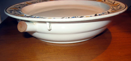 Ceramics<br>Sale<br>Creamware Hot Water Plate