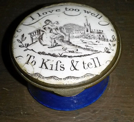 Accessories<br>Accessories Archives<br>SOLD  18th century enamel box about love