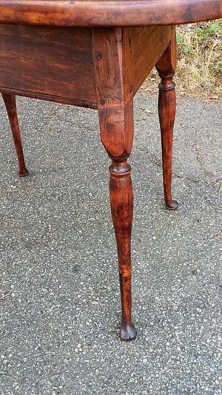 Furniture<br>Furniture Archives<br>Oval-top Splay-legged Queen Anne period tap table