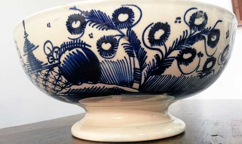 Ceramics<br>Ceramics Archives<br>Dated Pearlware Footed Bowl