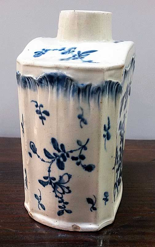 Ceramics<br>Ceramics Archives<br>Pearlware Shell-edge tea canister
