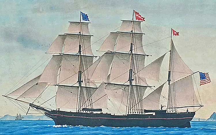 Paintings<br>Archives<br>Barque William Woodside