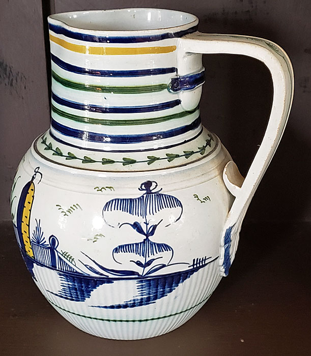 Just In<br>Polychrome pearlware jug