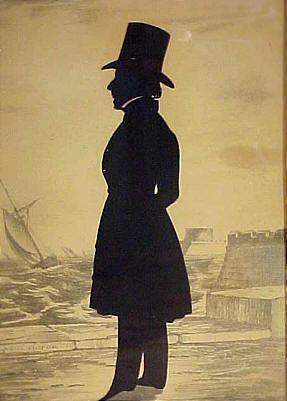Accessories<br>Accessories Archives<br>SOLD   Edouart silhouette of Asa Howard of Boston