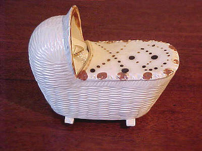 Ceramics<br>Ceramics Archives<br>SOLD   Bovey Tracey Cradle with Baby