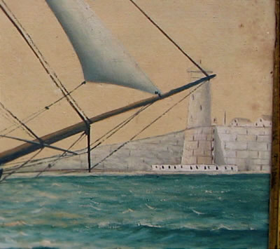 Paintings<br>Archives<br>Portrait of a Ship with Lighthouse