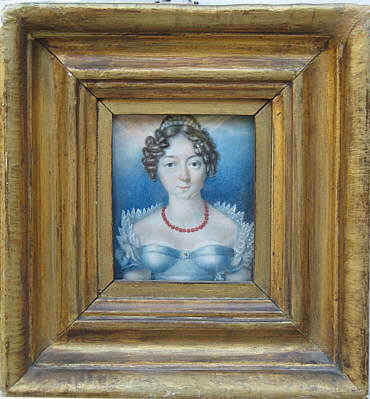 Paintings<br>Archives<br>Miniature Portrait of a Young Woman on Ivory