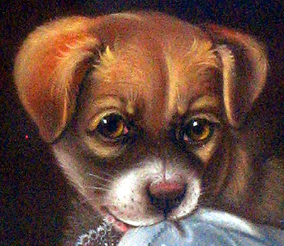Paintings<br>Archives<br>PASTEL OF A PUPPY