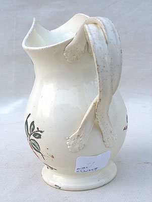 Ceramics<br>Ceramics Archives<br>SOLD  A Beautifully Decorated Creamware Creamer