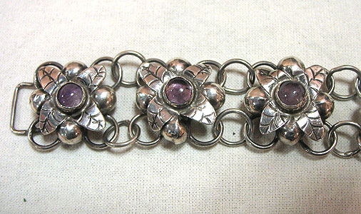 Jewelry<br>SOLD  A Silver and Amethyst Bracelet