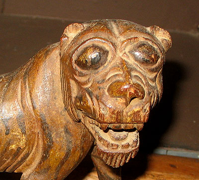 Accessories<br>Folk Art<br>SOLD   A Folky Carved Lion