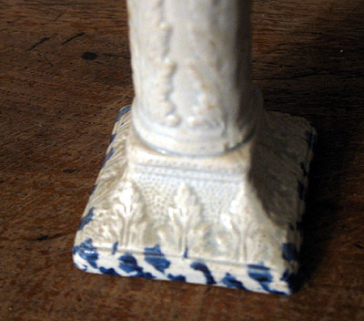 Ceramics<br>Ceramics Archives<br>SOLD  A Pearlware Taperstick with Molded Design