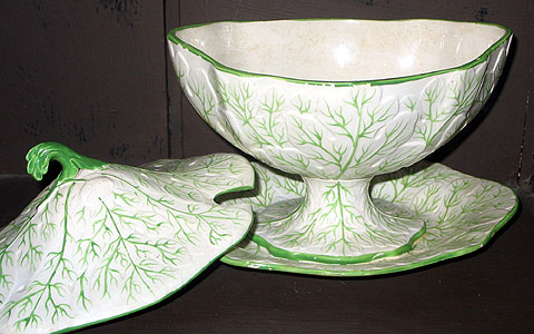 Ceramics<br>Ceramics Archives<br>SOLD  A pair of English earthenware sauce tureens