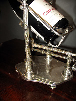 Accessories<br>Archives<br>SOLD  Silver Plated French Wine Cradle