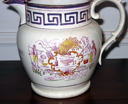 Ceramics<br>19th Century<br>SOLD  1828 Lustre Pitcher