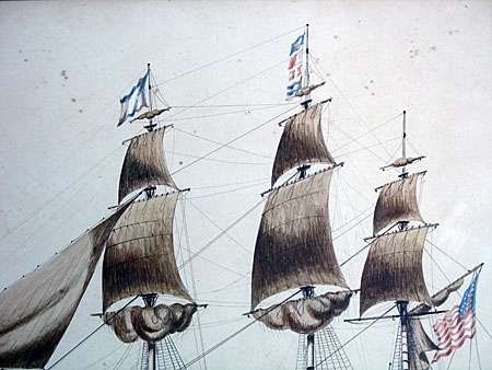 Paintings<br>Archives<br>SOLD  Watercolor of a Ship