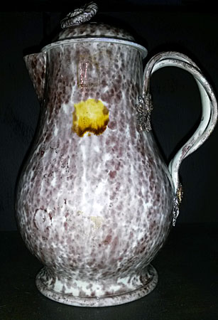 Ceramics<br>Ceramics Archives<br>Creamware tortoise shell jug with cover