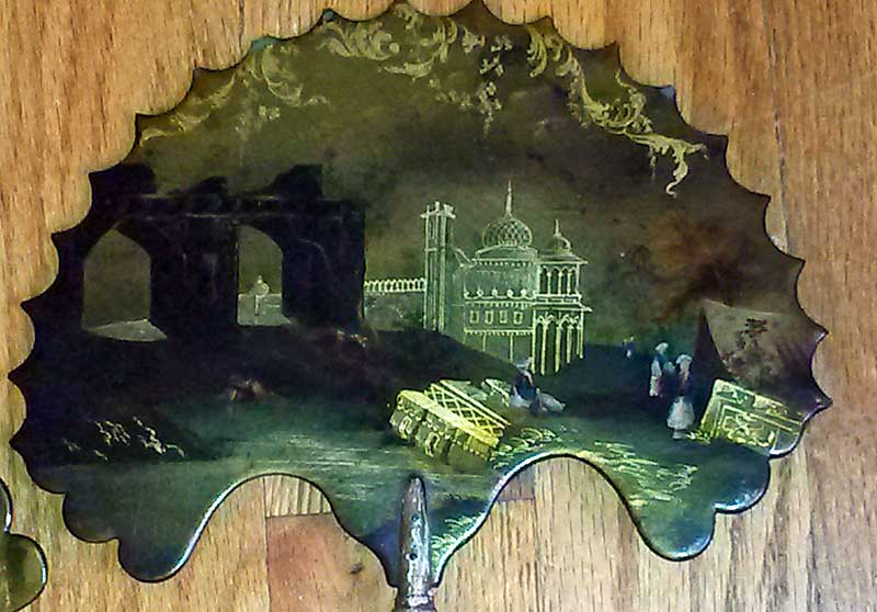 Accessories<br>Archives<br>Pair of early Victorian papier mache fire screens