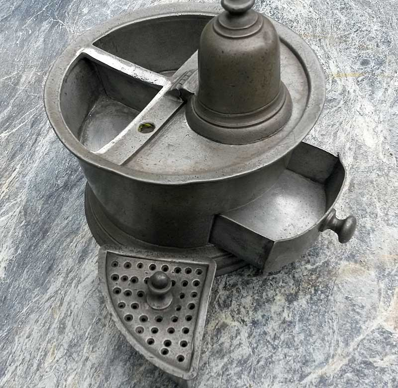 Metalware<br>Archives<br>SOLD  Pewter Inkwell