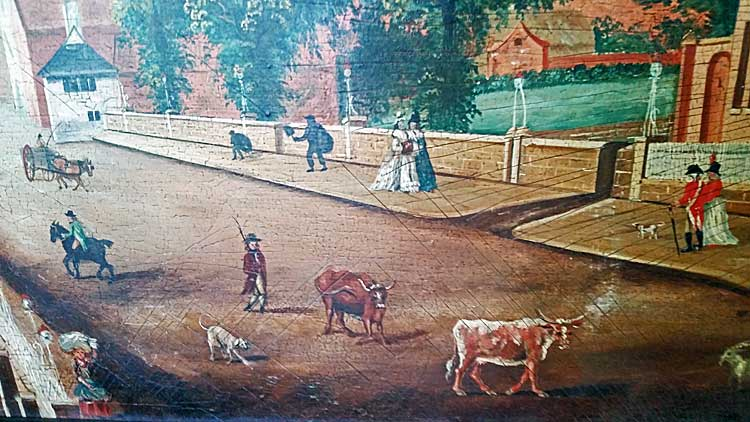 Paintings<br>Oil & Pastel<br>An English Village Scene