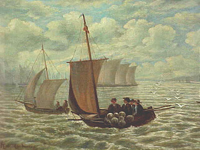Paintings<br>Archives<br>Painting of New York Harbor