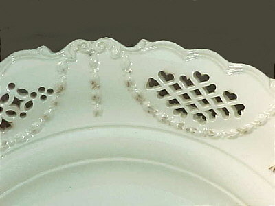 Accessories<br>Archives<br>SOLD   Large Pierced Creamware Dish