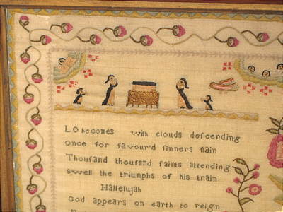 Accessories<br>Accessories Sale<br>SOLD   English Sampler by Mary Vowles 1794