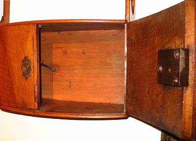 Furniture<br>Furniture Archives<br>SOLD  Continental Fruitwood Hanging Shelf