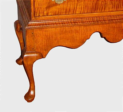 Furniture<br>Furniture Archives<br>SOLD  Tiger Maple Chest on Frame