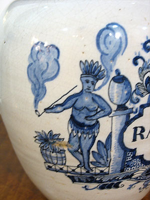 Accessories<br>Archives<br>SOLD  A Delft Tobacco Jar