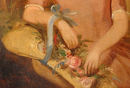 Paintings<br>Archives<br>SOLD  English Girl with Basket of Flowers